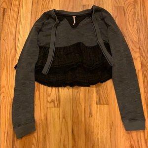 NWT!! Free people crop top sweater